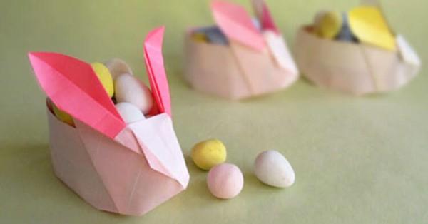 Coelhinho de papel com ovinhos de chocolate47
