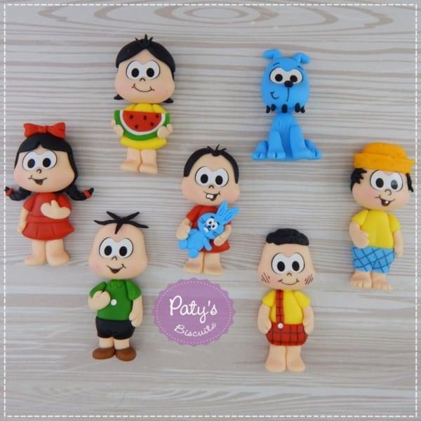 Lembrancinha Turma da Mônica biscuit personagens
