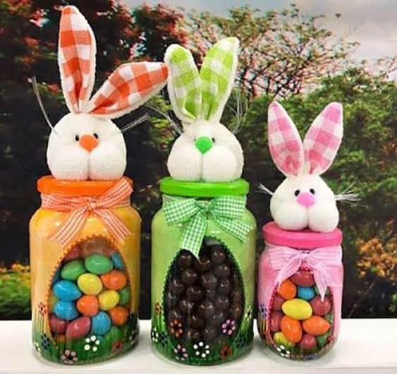 Lembrancinha de Páscoa para professores com pote de vidro e ovinhos coloridos3