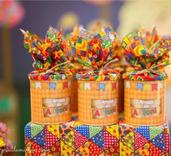 Lembrancinhas para Festa junina infantil latinha
