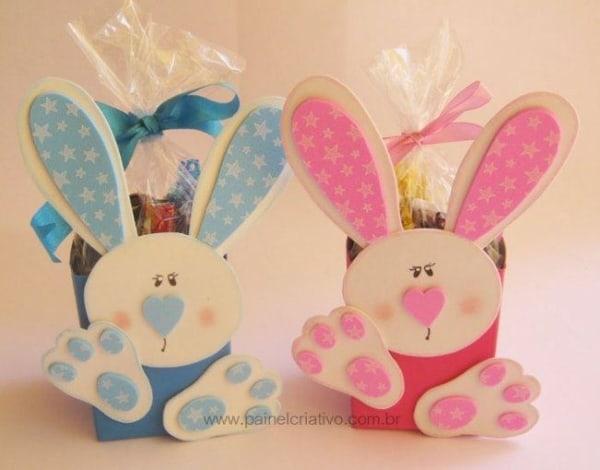 Porta doces em EVA para lembrancinhas de Páscoa para professores12