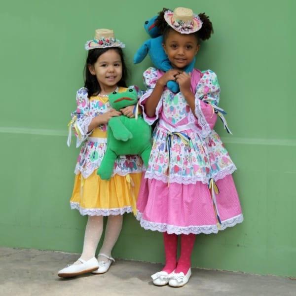 Roupas de festa junina infantil ideias para meninas