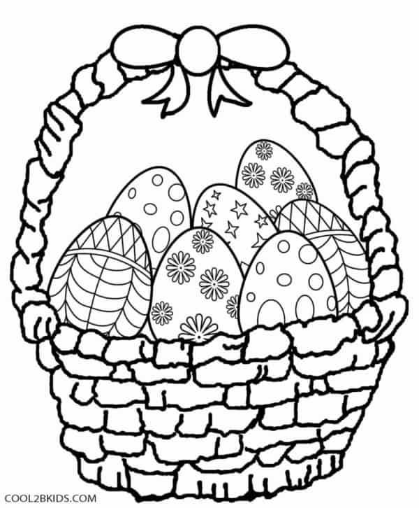 cesta grande com ovos de pascoa