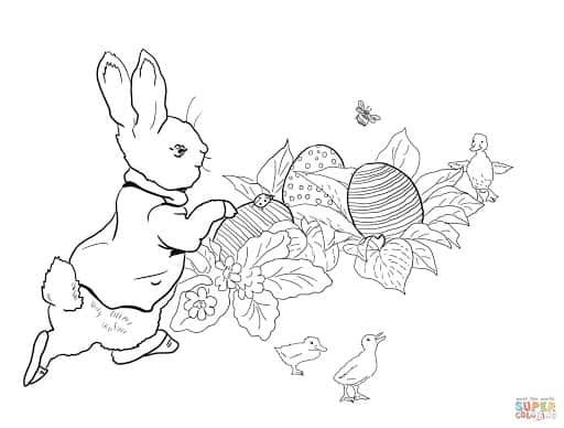 coelho da Páscoa para pintar grátis