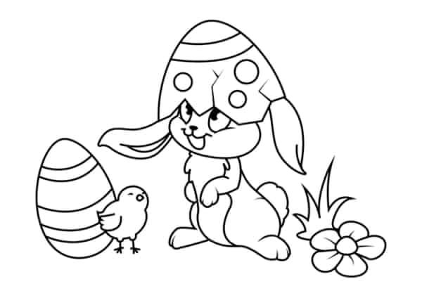 coelho da pascoa para colorir