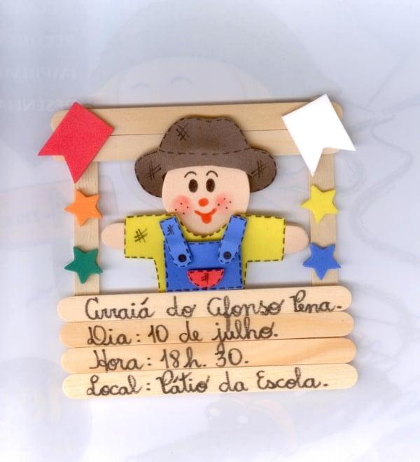 convite festa junina infantil criativo