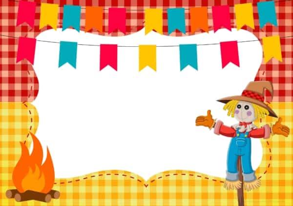 convite festa junina infantil molde