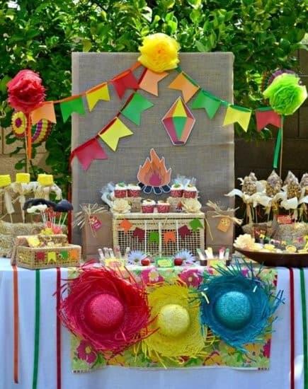 decoração de Festa Junina Infantil ideias