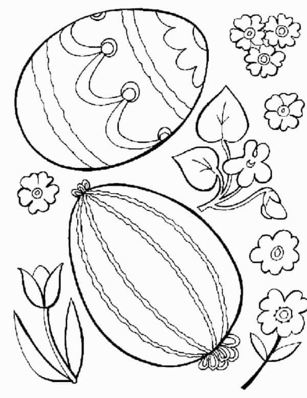 estilos de ovos para colorir