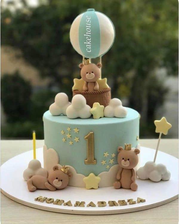 ideias de Bolo mesversário ursinho