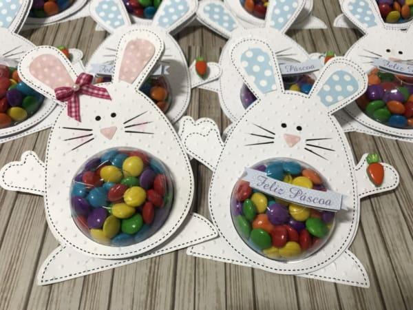 lembrancinhas de Páscoa para escola com confetes de chocolate