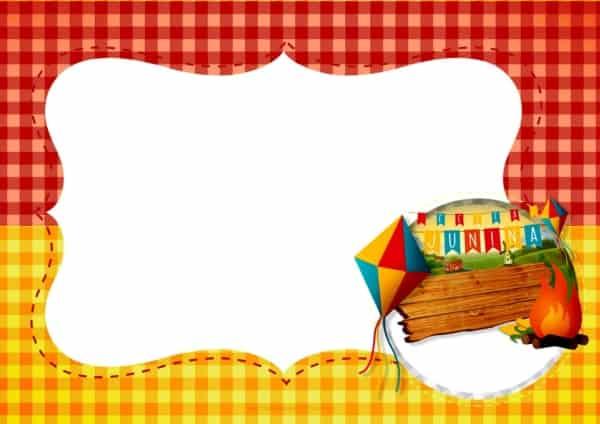 molde para convite festa junina infantil