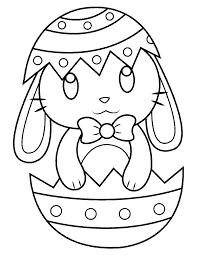 ovo de Páscoa para colorir com coelho