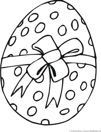 ovo de Páscoa para colorir com laço