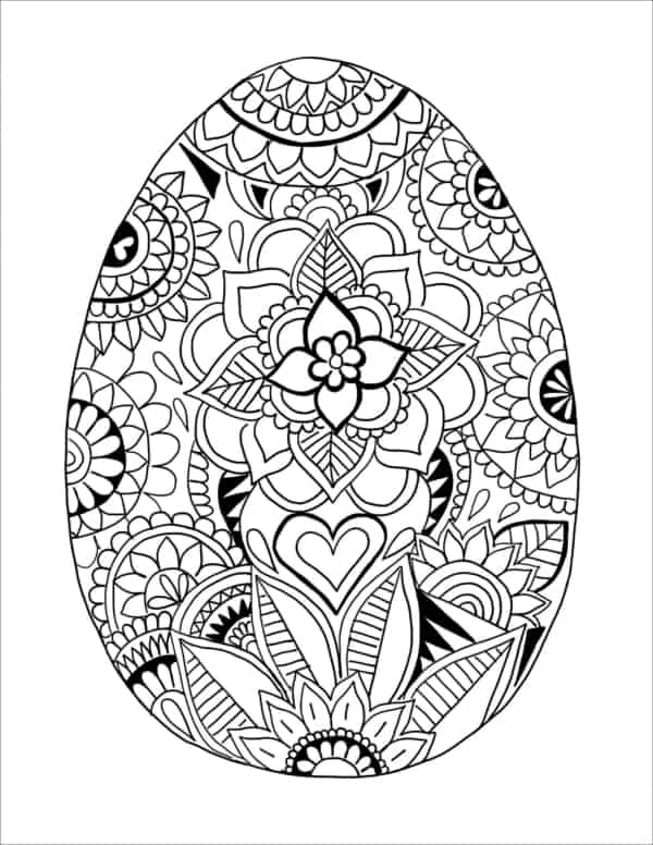 ovo de Páscoa para colorir mandala