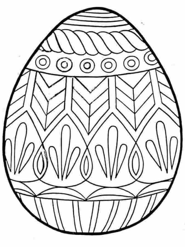ovo de Páscoa para colorir passo a passo