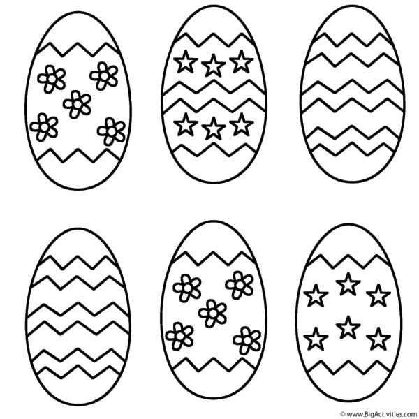 ovo de Páscoa para colorir pequenos