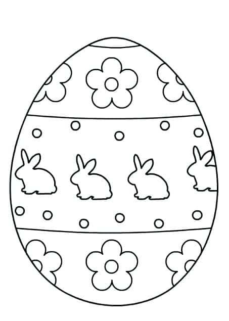 ovo de Páscoa para colorir personalizado