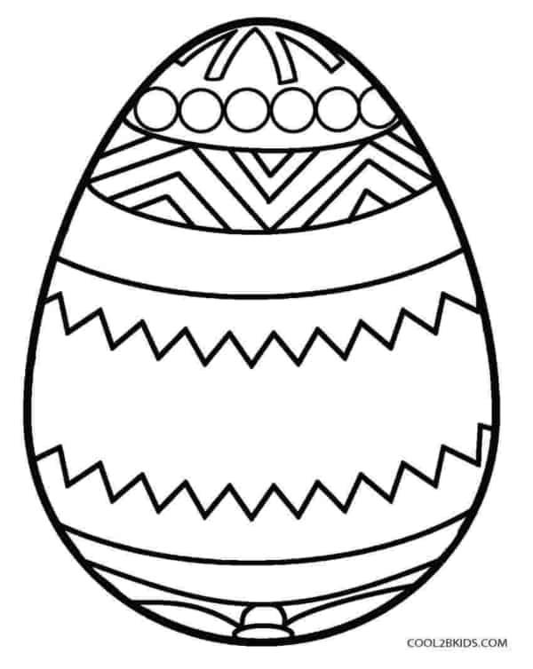 ovo de Páscoa para colorir simples