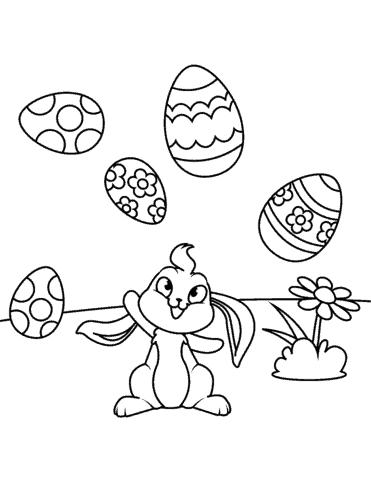 ovo de pascoa para colorir
