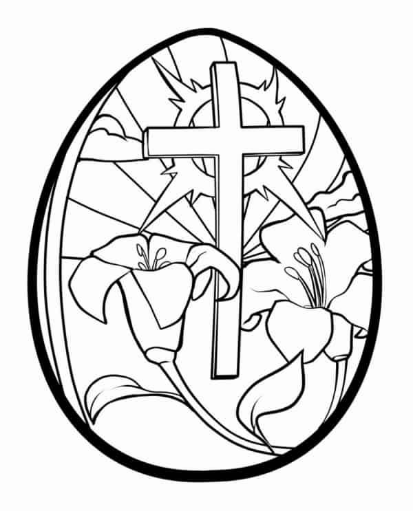 ovo temático da Páscoa para colorir