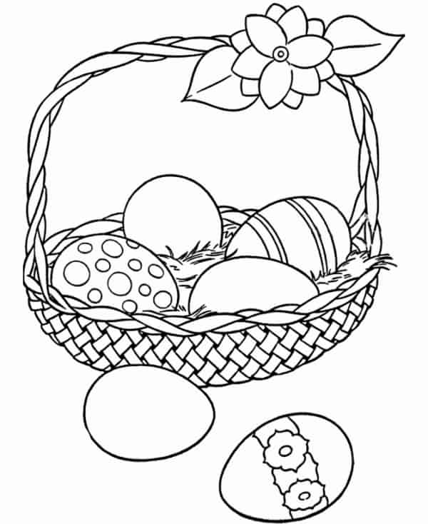 ovos de pascoa para colorir gratis