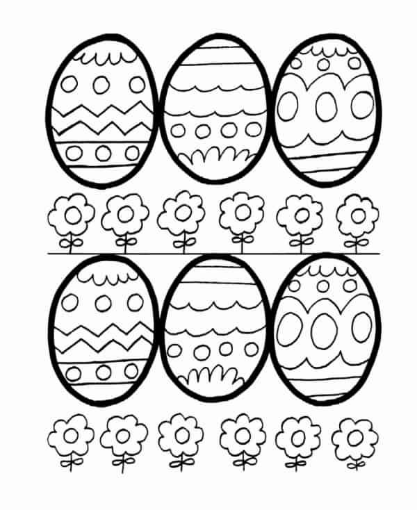 ovos de pascoa para colorir