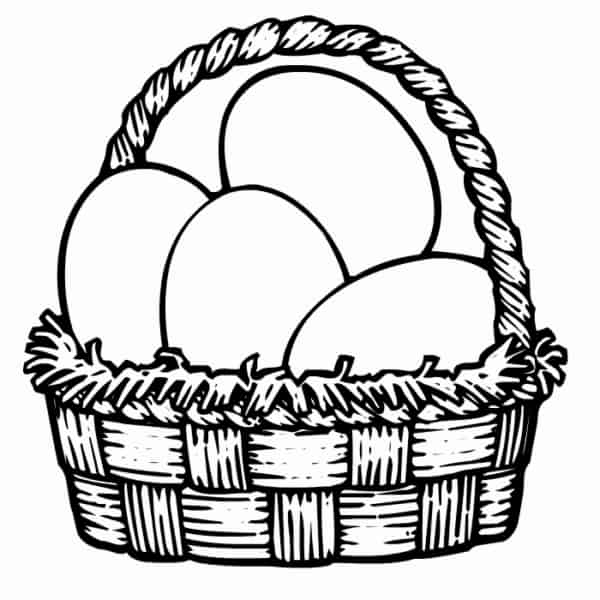 ovos para colorir gratis