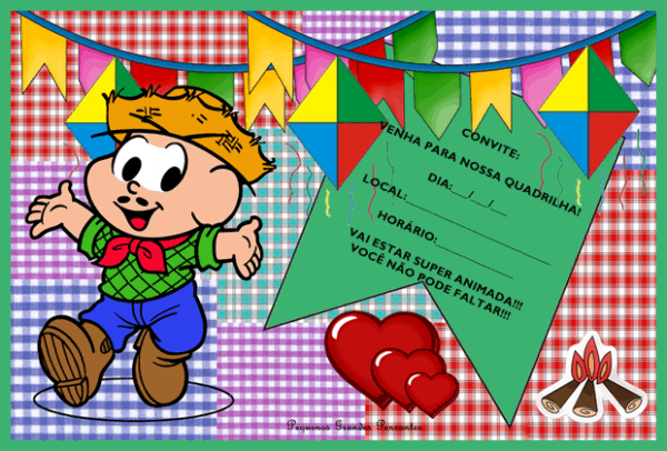 template para convite festa junina infantil