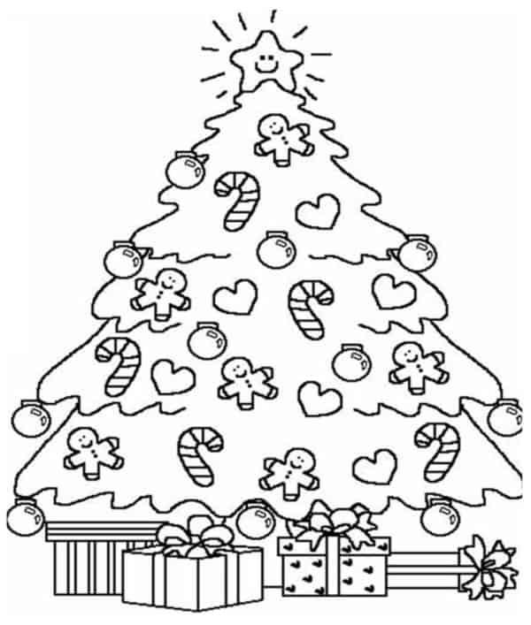 Árvores de Natal para colorir 1
