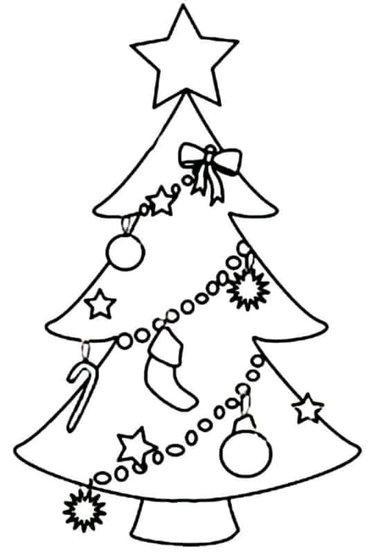 Árvores de Natal para colorir 6