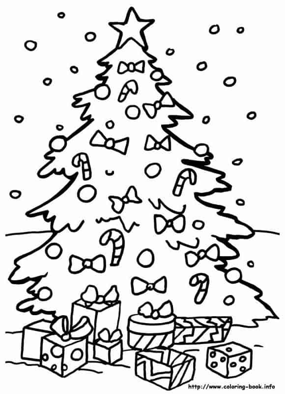 Mais um modelo de árvore de Natal, dessa vez com neve caindo