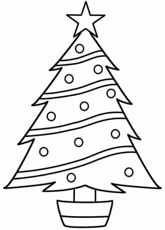 Árvore básica natalina para pintar