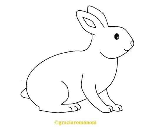 desenho simples de coelho para se inspirar