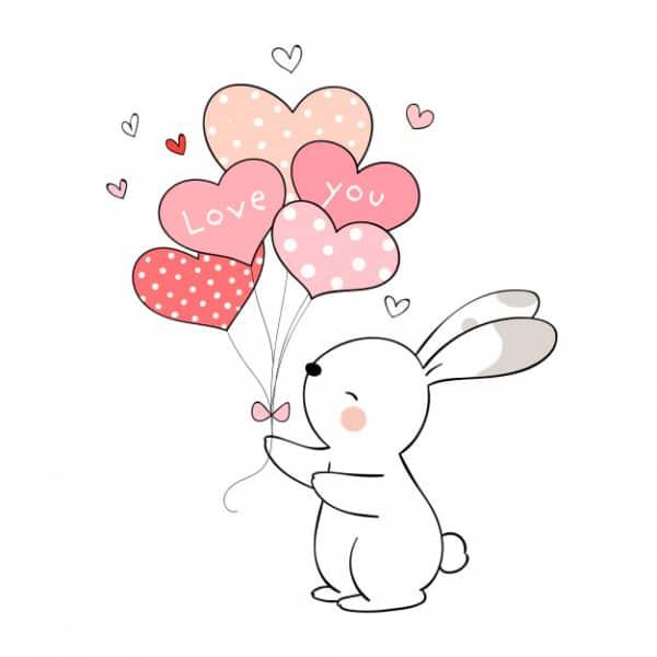 desenho de coelho fofinho
