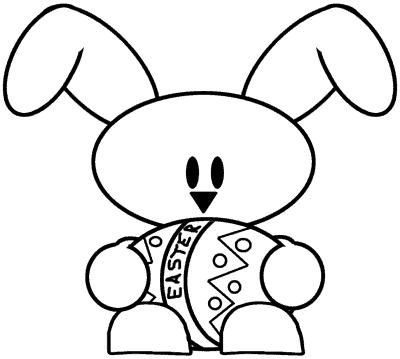 desenho de coelho da páscoa fácil