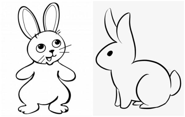 desenhos simples de coelho