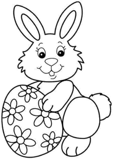 desenho simples de coelho com ovo