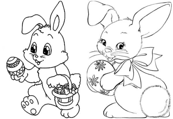 desenhos de coelho da páscoa