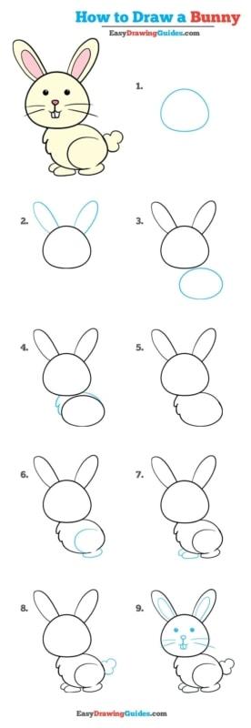passo a passo para desenhar um coelho fofinho