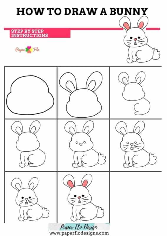 tutorial para desenhar coelhinho