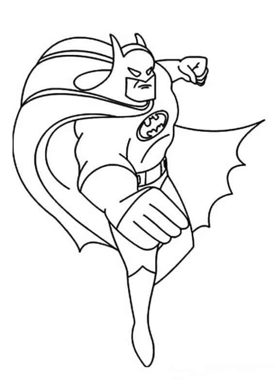 Batman desenho para colorir