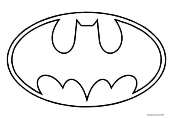 Batman para colorir simbolo