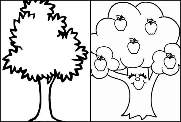 Desenho árvores para colorir 5