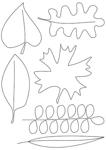 Folhas de árvores para colorir 10