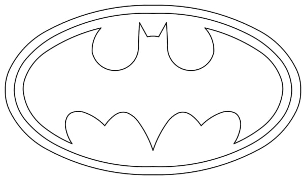 Logo do Batman para colorir