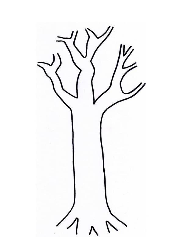 Troncos de árvore para imprimir e pintar 1