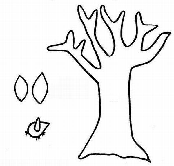 Troncos de árvore para imprimir e pintar 2