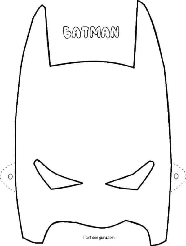 batman mascara para colorir