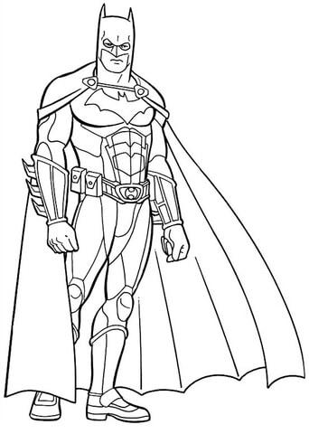 desenho Batman para colorir